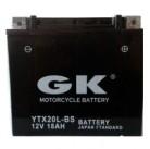 Μπαταρία μοτοσυκλετών GK Maintenance Free YTX20L-BS - 12V 18 (10HR)Ah - 270 CCA(EN) εκκίνησης