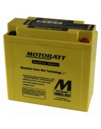 Μπαταρία μοτοσυκλετών MOTOBATT MB5.5U - 12V 7 (10HR)Ah - 105CCA εκκίνησης
