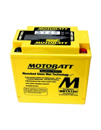 Μπαταρία μοτοσυκλετών MOTOBATT MBTX12U - 12V 14 (10HR)Ah - 200CCA εκκίνησης