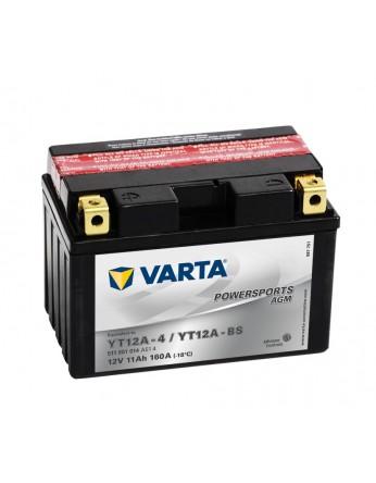 Μπαταρία μοτοσυκλετών Varta κλειστού τύπου AGM YT12A-BS - 12V 11Ah - 160 CCA (EN) εκκίνησης