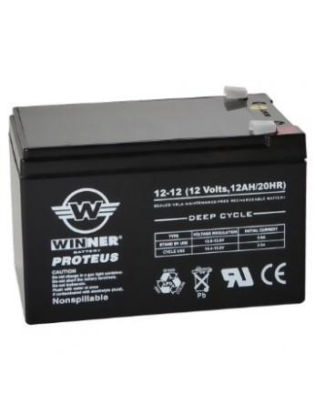 Μπαταρία Winner Proteus VRLA - Deep Cycle AGM τεχνολογίας - 12V 12Ah