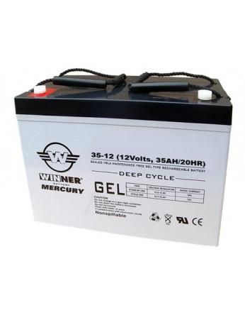 Μπαταρία Winner Mercury VRLA - GEL τεχνολογίας υψηλής απόδοσης - 12V 35Ah