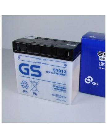 Μπαταρία μοτοσυκλετών GS 51913 - 12V 19 (20HR) - 100 CCA (EN) εκκίνησης