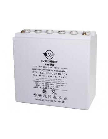 Μπαταρία Gel τεχνολογίας Winner Zeus 12V 3 OPzV 150 - 12V 150Ah(C20)