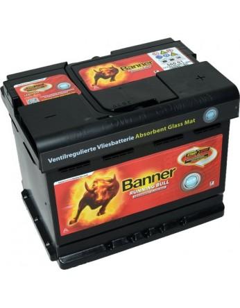 Μπαταρία τεχνολογίας AGM Banner Running Bull 56001 12V 60Ah (C20) - 640CCA εκκίνησης