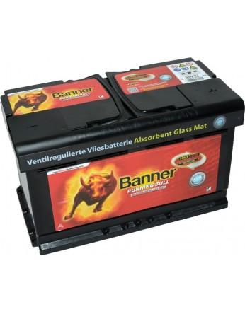 Μπαταρία τεχνολογίας AGM Banner Running Bull 58001 12V 80Ah (C20) - 800CCA εκκίνησης