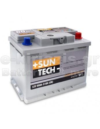 Μπαταρία αυτοκινήτου Suntech 56030X - 12V 60Ah - 500CCA(EN) εκκίνησης