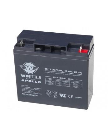 Μπαταρία Winner Apollo VRLA - AGM τεχνολογίας - 12V 18Ah (Τ12) κατάλληλα για συστήματα ups, φορητούς εκκινητές Booster
