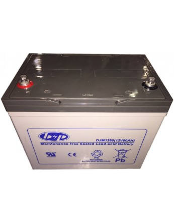 Μπαταρία B&P DJM 12-80 VRLA - AGM τεχνολογίας - 12V 80Ah (C20)