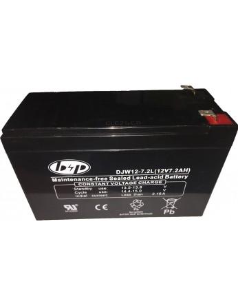 Μπαταρία B&P DJW 12-7.2L VRLA - AGM τεχνολογίας - 12V 7.2Ah