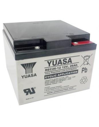 Μπαταρία YUASA REC26-12 VRLA - AGM τεχνολογίας - 12V 26Ah