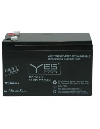 Μπαταρία Local Energy - YES 12-7.2 (F1) VRLA - AGM τεχνολογίας - 12V 7.2Ah
