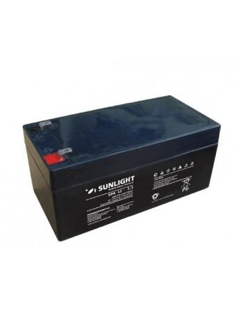 Μπαταρία Sunlight SPA12-3.3 VRLA - AGM τεχνολογίας - 12V 3.2Ah (C20)