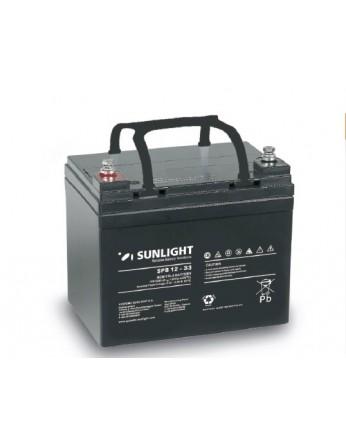 Μπαταρία Sunlight SPB12-33 VRLA - AGM τεχνολογίας - 12V 33Ah (C10)