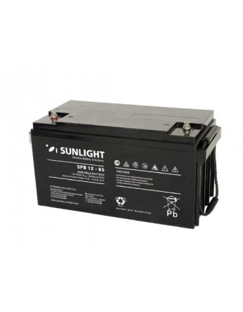 Μπαταρία Sunlight SPB12-65 VRLA - AGM τεχνολογίας - 12V 65Ah (C10)