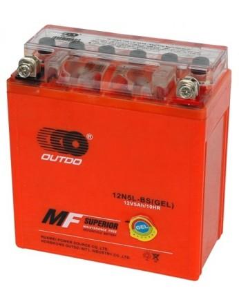 Μπαταρία μοτοσυκλετών OUTDO YB5L-BS IGEL - 12V 5 (10HR) - 65 CCA (EN) εκκίνησης