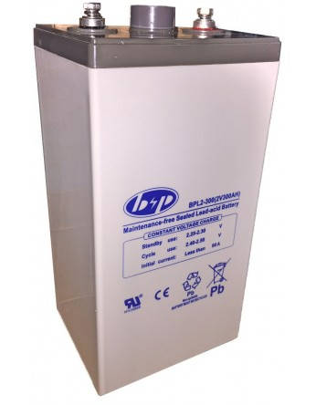 Μπαταρία B&P BPL 2-300 VRLA - AGM τεχνολογίας - 2V 320Ah κατάλληλη για ηλεκτρικά μοτέρ, τροχόσπιτα, φωτοβολταϊκά συστήματα, service σε σκάφη αναψυχής