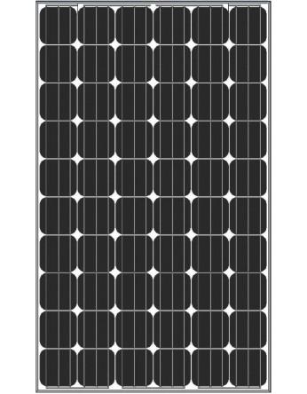ΦωτοβολταΙκό πάνελ Amerisolar 190Wp 24V-72 κυψελών μονοκρυσταλλικό