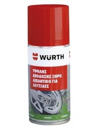 Wurth Υψηλής απόδοσης ξηρό λιπαντικό για αλυσίδες 150ml