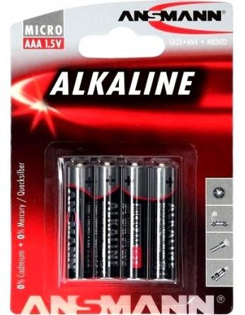 Αλκαλική μπαταρία Ansmann AAA LR3 1,5V (4 τεμ.)