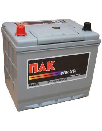 Μπαταρία αυτοκινήτου Πακ Electric PA655 - 12V 65 Ah - 580CCA A(EN) εκκίνησης