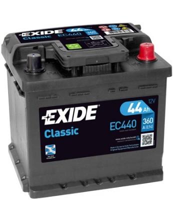 Μπαταρία αυτοκινήτου Exide Classic EC440 - 12V 44 Ah - 360CCA A(EN) Εκκίνησης