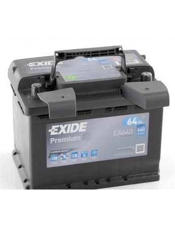 Μπαταρία αυτοκινήτου Exide Premium EA640 - 12V 64 Ah - 640CCA A(EN) Εκκίνησης