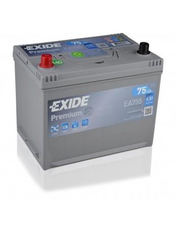Μπαταρία αυτοκινήτου Exide Premium EA755 - 12V 75 Ah - 630CCA A(EN) εκκίνησης