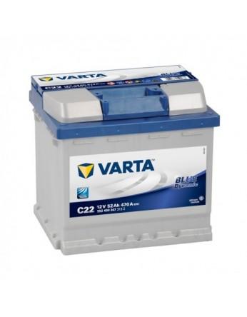 Μπαταρία αυτοκινήτου Varta Blue C22 - 12V 52 Ah - 470CCA A(EN) εκκίνησης