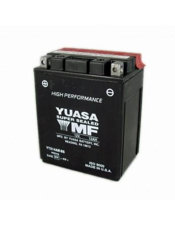 Μπαταρία μοτοσυκλετών YUASA High Performance Maintenance Free YTX14AH-BS -12V 12 (10HR)Ah - 240 CCA(EN) εκκίνησης