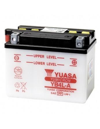 Μπαταρία μοτοσυκλετών YUASA Yumicron YB4L-A - 12V 4 (10HR) - 56 CCA (EN) εκκίνησης