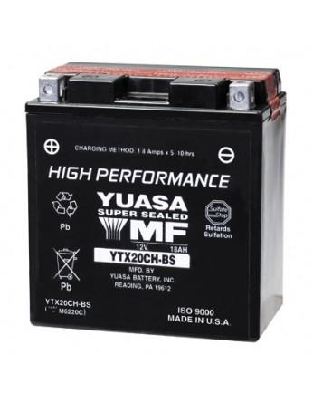 Μπαταρία μοτοσυκλετών YUASA USA High Performance Maintenance Free YTX20CH-BS (YTX20A-BS) -12V 18.9 (20HR)Ah - 270 CCA(EN) εκκίνησης