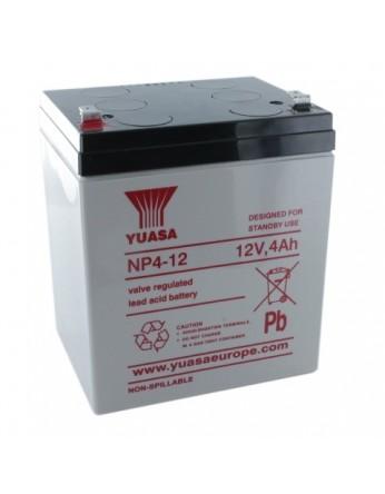 Μπαταρία YUASA NP4-12 VRLA - AGM τεχνολογίας - 12V 4Ah