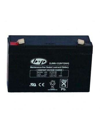 Μπαταρία B&P DJW 6-12 VRLA - AGM τεχνολογίας - 6V 12Ah (C20)