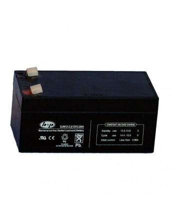 Μπαταρία B&P DJW 12-3.2 VRLA - AGM τεχνολογίας - 12V 3.2Ah (C20)