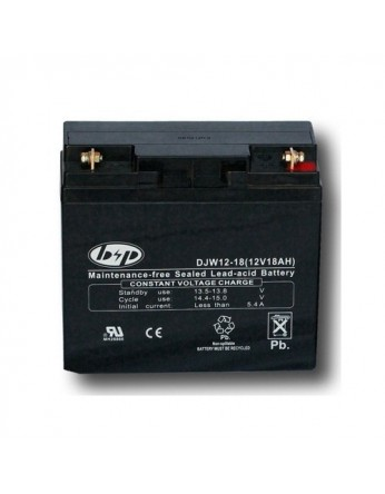 Μπαταρία B&P DJW 12-18 VRLA - AGM τεχνολογίας - 12V 18Ah (C20)