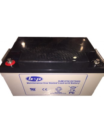Μπαταρία B&P DJM 12-75 VRLA - AGM τεχνολογίας - 12V 75Ah