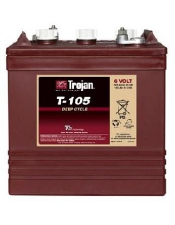 Μπαταρία Trojan Deep - Cycle Flooded βαθιάς εκφόρτισης T-105 - 6V 225Ah (C20)
