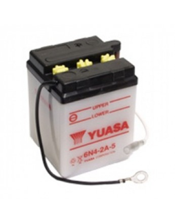 Μπαταρία μοτοσυκλετών YUASA Conventional 6N4-2A-5 - 6V 4 (10HR)