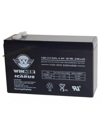 Μπαταρία Winner Icarus VRLA - AGM τεχνολογίας με εκφόρτιση υψηλής απόδοσης - 12V 6Ah