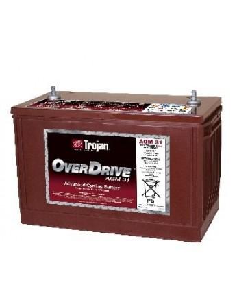 Μπαταρία Trojan Deep - Cycle AGM βαθιάς εκφόρτισης OVER DRIVE AGM 31-12V 102Ah (C20)