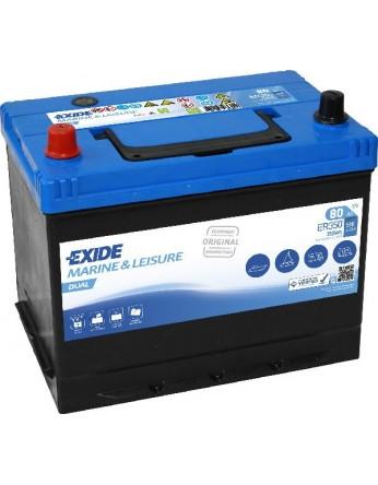 Μπαταρία Exide Dual ER350 - 12V 80Ah - 510CCA A(EN) εκκίνησης