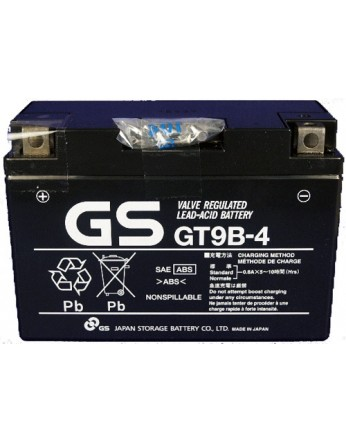 Μπαταρία μοτοσυκλετών GS AGM (factory activated) GT9B-4 - 12V 8.4Ah (20HR) - 130 CCA(EN) εκκίνησης