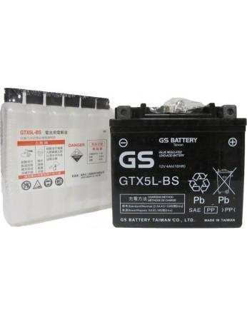Μπαταρία μοτοσυκλετών GS Maintenance Free GTX5L-BS - 12V 4 (10HR)Ah - 70 CCA(EN) εκκίνησης
