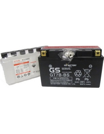 Μπαταρία μοτοσυκλετών GS AGM GT7B-BS - 12V 6.5Ah (10HR) - 120 CCA(EN) εκκίνησης (με υγρά)