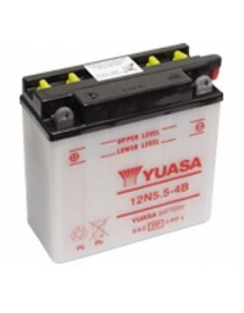 Μπαταρία μοτοσυκλετών YUASA Conventional 12N5.5-4B - 12V 5.5 (10HR) - 60 CCA (EN) εκκίνησης
