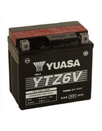 Μπαταρία μοτοσυκλετών YUASA High Performance Maintenance Free YTZ6V -12V 5 (10HR)Ah - 90 CCA(EN) εκκίνησης