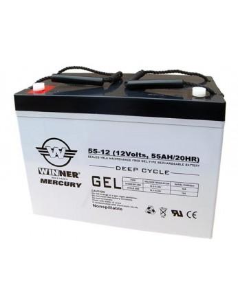 Μπαταρία Winner Mercury VRLA - GEL τεχνολογίας υψηλής απόδοσης - 12V 55Ah