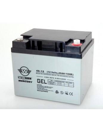 Μπαταρία Winner Mercury VRLA - GEL τεχνολογίας υψηλής απόδοσης - 12V 40Ah