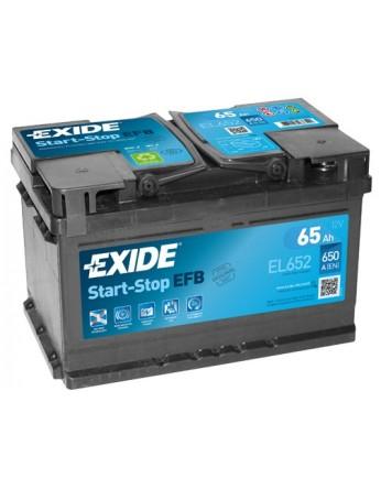 Μπαταρία αυτοκινήτου Exide EFB Start & Stop EL652 - 12V 65 Ah - 650CCA A(EN) Εκκίνησης